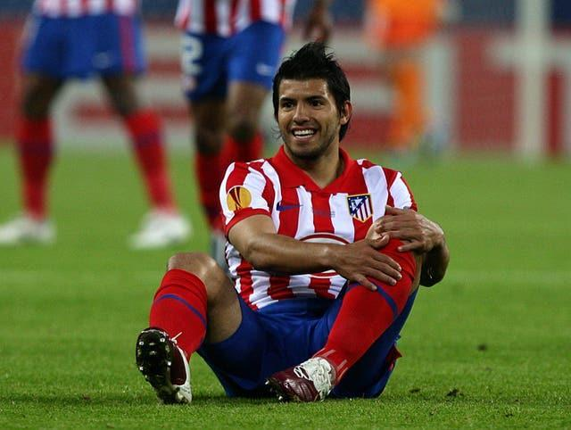Aguero was with Atletico Madrid for five seasons before joining City in 2011 (Dave Thompson/PA).
