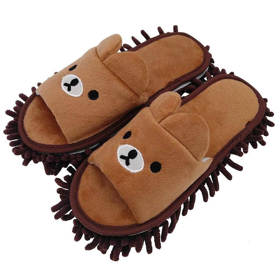 <p>Keep your feet cozy and the floor clean with these <span>Selric Microfiber Washable Mop Slippers</span> ($13). </p>