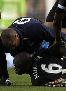 Fabrice Muamba slumped to the field in the 41st minute of Bolton's game against Tottenham on Saturday