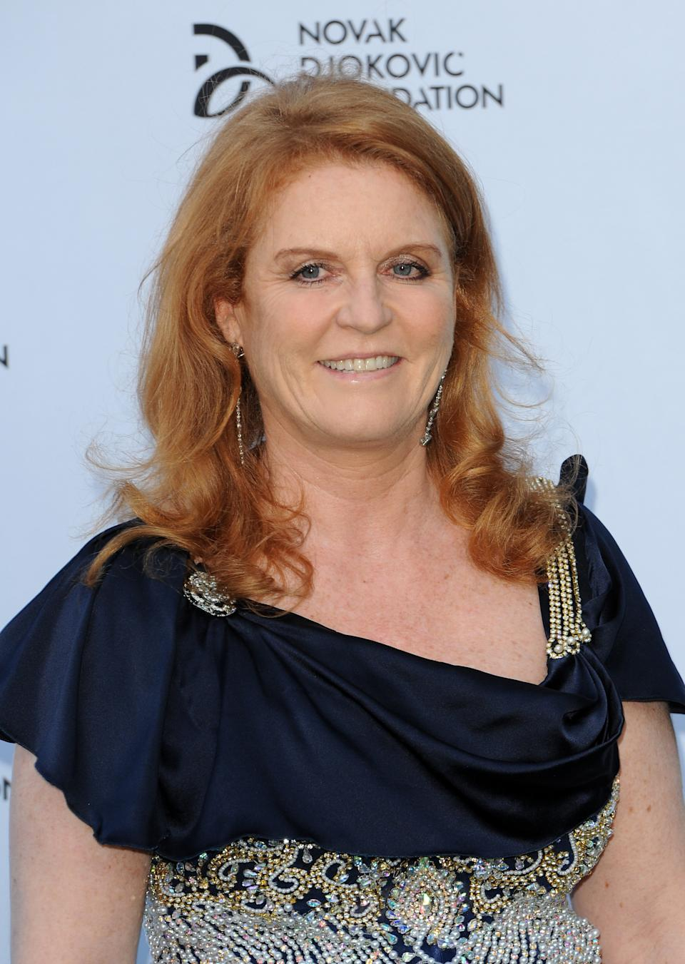 LONDON, UNITED KINGDOM - JULY 08: Sarah Ferguson attends the Novak Djokovic Foundation London gala dinner at The Roundhouse on July 8, 2013 in London, England. (Photo by Eamonn M. McCormack/Getty Images)