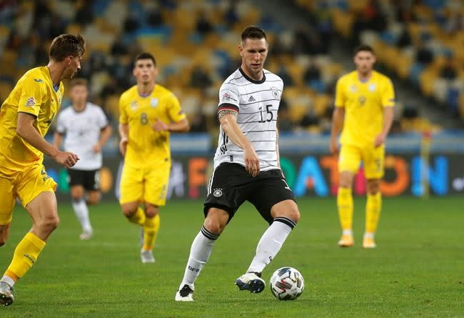 Germany holds on to beat Ukraine for 1st Nations League win