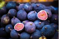 """<p>Figs are a good source of fiber; they're best eaten in moderation because they're fairly high in <a href=""""https://www.goodhousekeeping.com/health/diet-nutrition/a34536840/sugar-nutrition-facts/"""" rel=""""nofollow noopener"""" target=""""_blank"""" data-ylk=""""slk:sugar"""" class=""""link rapid-noclick-resp"""">sugar</a>. They're an elegant addition to a cheese plate, and are versatile in <a href=""""https://www.goodhousekeeping.com/food-recipes/g33404828/fig-recipes/"""" rel=""""nofollow noopener"""" target=""""_blank"""" data-ylk=""""slk:recipes"""" class=""""link rapid-noclick-resp"""">recipes</a> — wonderful in a poultry dish, as an appetizer or a dessert.</p>"""