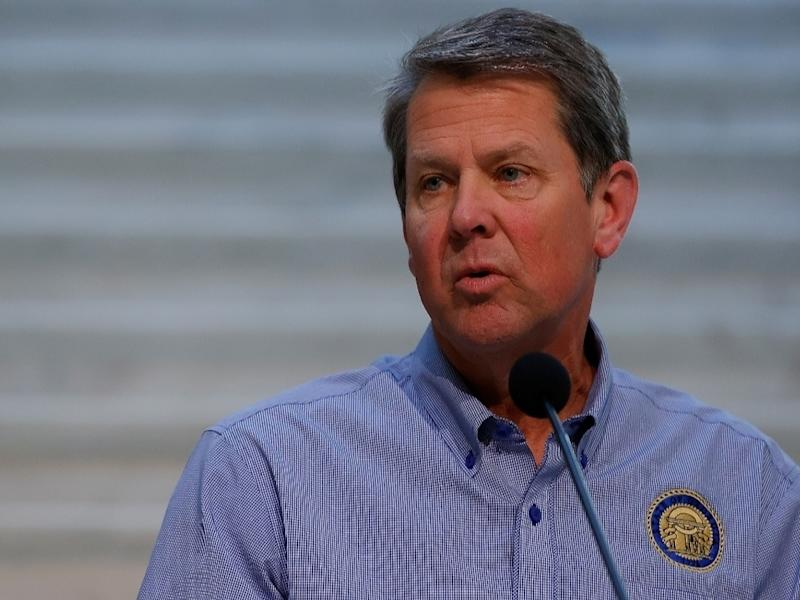 """Georgia Governor Brian Kemp released a video Thursday afternoon in support of law enforcement, saying the state """"proudly backs the blue."""""""