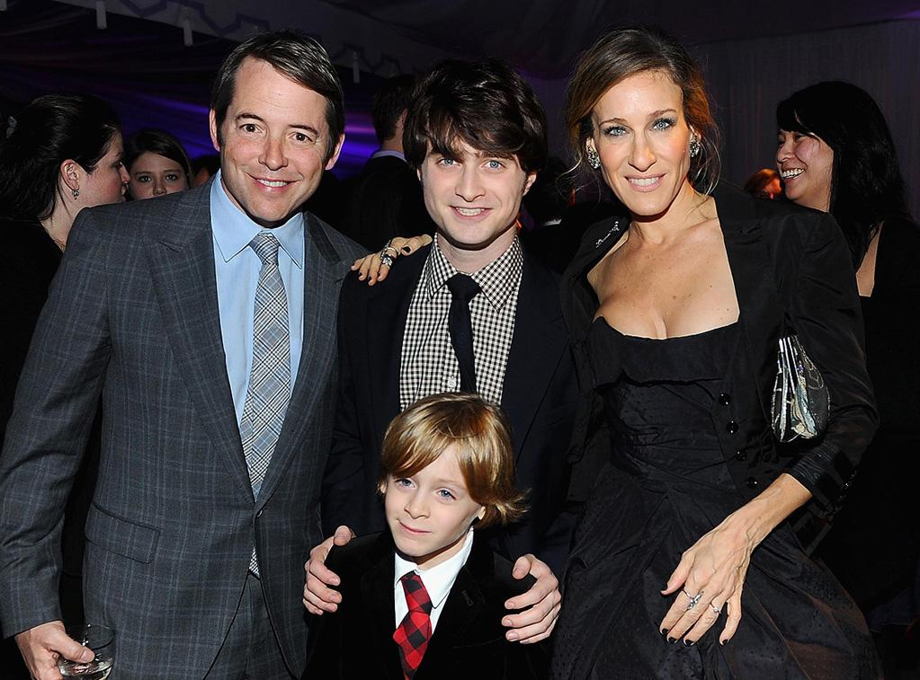 """<a href=""""http://movies.yahoo.com/movie/contributor/1800010807"""">Matthew Broderick</a>, <a href=""""http://movies.yahoo.com/movie/contributor/1802866080"""">Daniel Radcliffe</a> and <a href=""""http://movies.yahoo.com/movie/contributor/1800016083"""">Sarah Jessica Parker</a> attend the New York premiere of <a href=""""http://movies.yahoo.com/movie/1810004780/info"""">Harry Potter and the Deathly Hallows - Part 1</a> on November 15, 2010."""