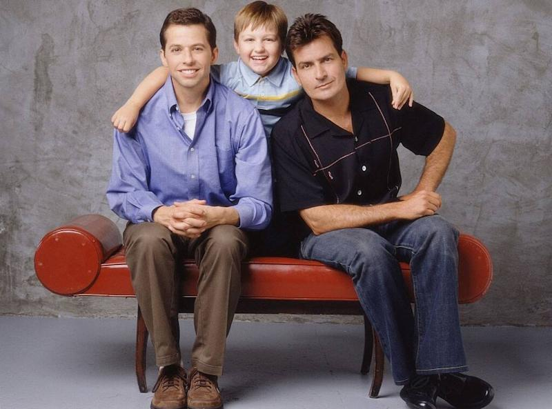 Charlie Sheen, Angus T. Jones, Jon Cryer, Two and a Half Men, cast