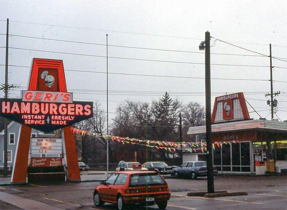 <p>Fun fact: Geri was a former VP of Micky D's and, well, it explains a lot. Geri's Hamburgers was an Illinois based fast food burger chain with glaring similarities to McDonald's. It was originally marketed as a take-out joint, but later had some seating. Come 1981, the corporation folded. While a few still ran independently, in 1999, the last Geri's ceased to exist.</p>