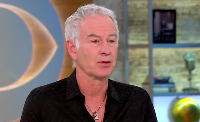 John McEnroe appeared on <em>CBS This Morning</em> and declined to apologize to Serena Williams. (Photo: CBS)