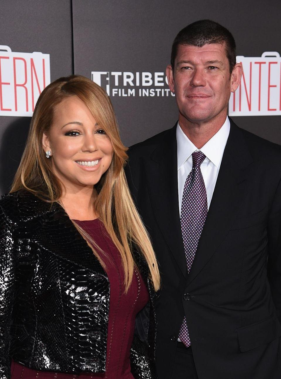 """<p>The singer and casino mogul announced they were engaged in January 2010 only to <a href=""""http://www.usmagazine.com/celebrity-news/news/james-packer-dumped-mariah-carey-while-making-wedding-plans-w447899"""" rel=""""nofollow noopener"""" target=""""_blank"""" data-ylk=""""slk:call off the wedding"""" class=""""link rapid-noclick-resp"""">call off the wedding</a> in October of the same year.</p>"""