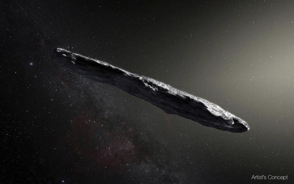The strange interstellar object was first spotted late last year (ESA)