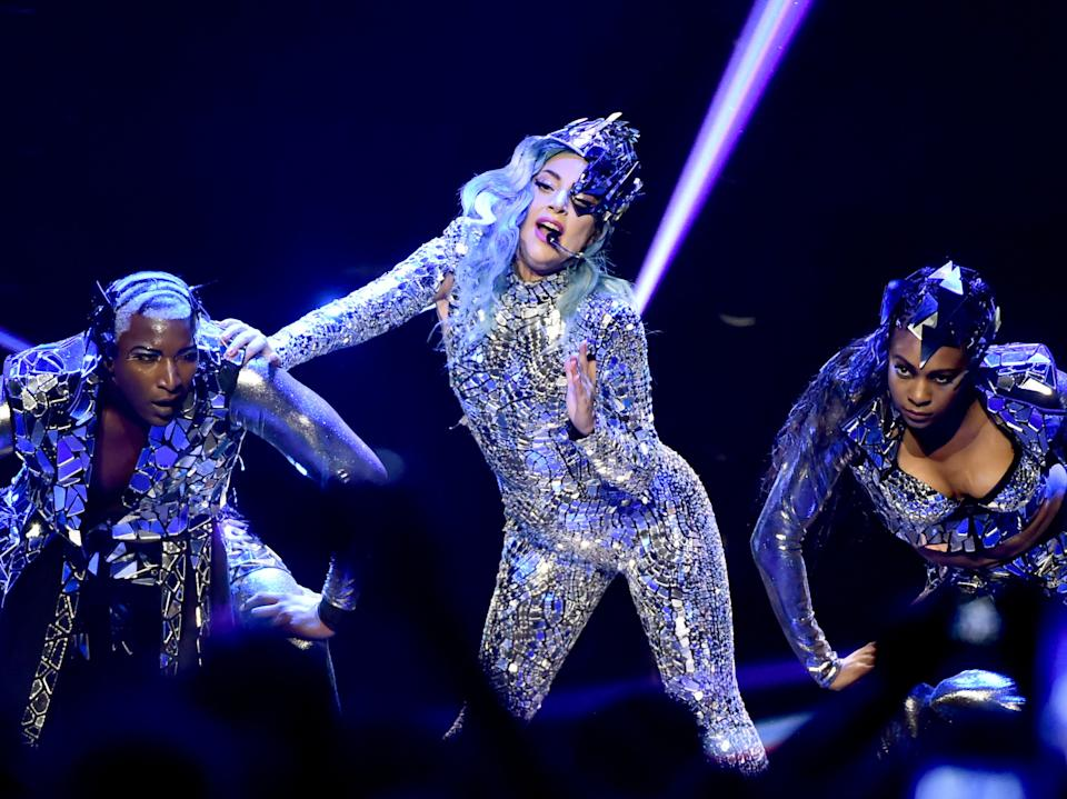 Lady Gaga performing onstage in February, 2020 (Getty Images for AT&T)