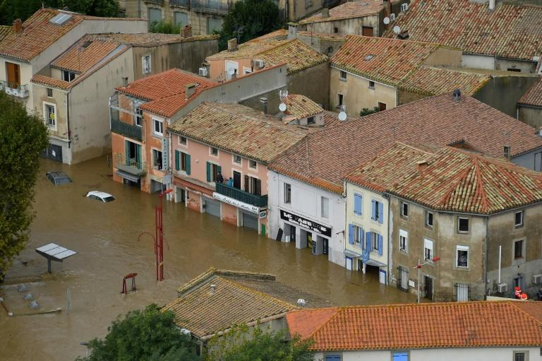 Officials said one woman in the town of Trebes lost her husband in a jihadist  attack in March and both her parents this week in the floods