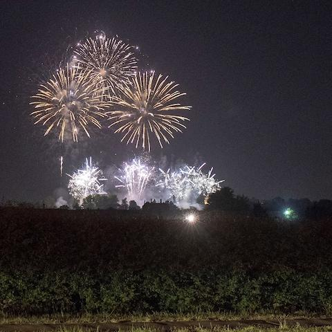 The fireworks over Frogmore House - Credit: Steve Finn