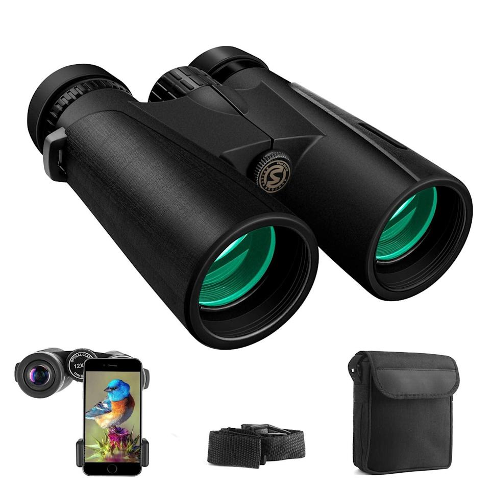 <p>These compact HD <span>Cayzor Binoculars</span> ($30) come with an adapter to connect to your smartphone so you can share images with friends.</p>