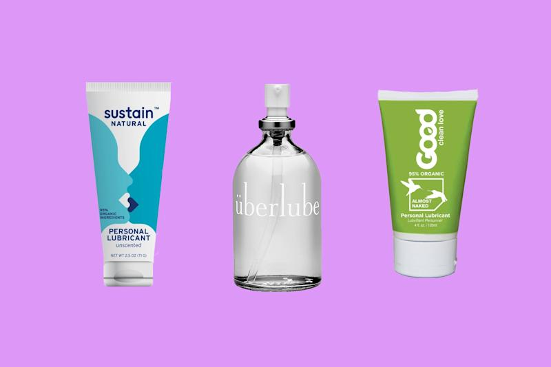 Sustain Lube, $13 (Shop Now), Überlube, $15 to $28 (Shop Now), and Good Clean Love Almost Naked Lube, $12, (Shop Now)