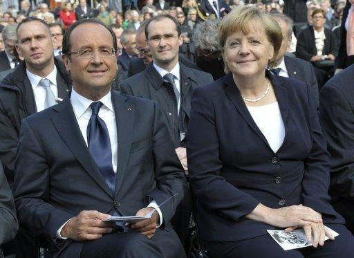Rift on banking union deepens between Merkel, Hollande