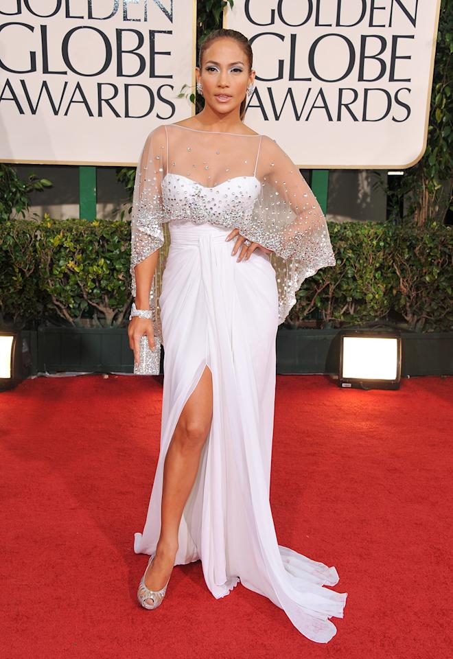 "Best conversation starter: Jennifer Lopez. Ever since JLo wore the tropical bikini cover — sans bikini top — for the 2000 Grammys (the dang thing merited its own Wikipedia entry), her evening wear has been under online scrutiny. Her track record holds up: The Hollywood Reporter raved about her ""'60s-style mint-green Valentino, an ivory Zuhair Murad [2011], a frothy peachy Marchesa mini,"" and Glamour thinks she's an all-time golden girl. She's rumored to be a presenter in 2013 (she pulled out in 2012), which means another highlight guaranteed."