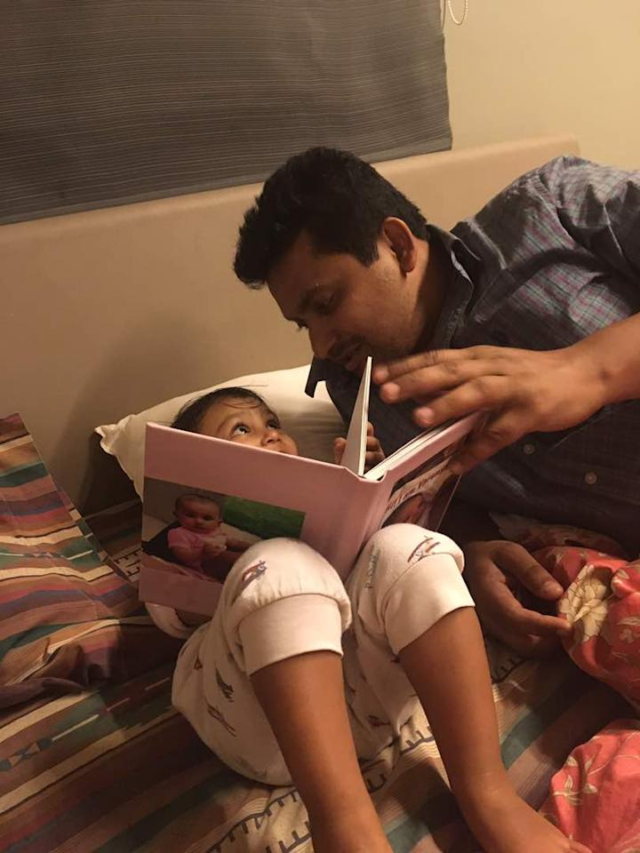 <p>Happy Father's Day from Varenya to her superhero daddy Siddharth Shah </p>