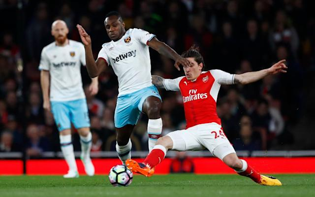 <span>West Ham fell to a fifth straight defeat at Arsenal this week</span> <span>Credit: Reuters </span>