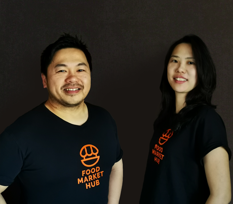Food Market Hub co-founders Anthony See and Shayna Teh