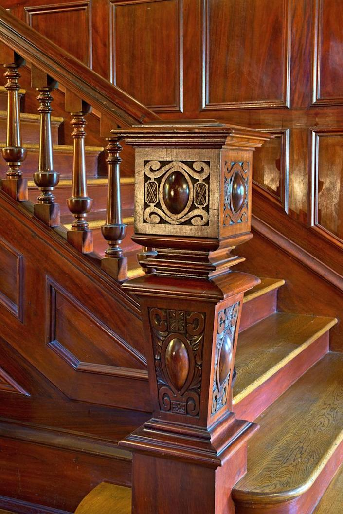 <p>The work on this newel shows the care Fenton has taken to restore every detail. </p>