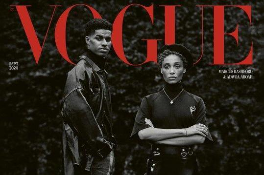 Marcus Rashford and model Adwoa Aboahl feature on the cover of British Vogue's activist-themed September issue: Vogue