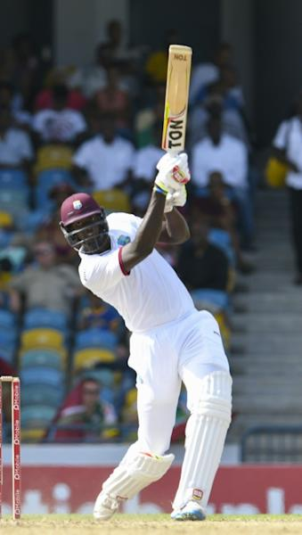 Jason Holder of West Indies hits on April 30, 2017