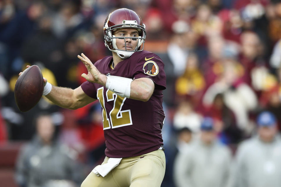 Colt McCoy's task: Maintain the Redskins' lead in the NFC East with six games remaining. (Getty Images)