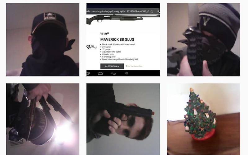 The suspect's Instagram page shows him posing with weapons - Instagram