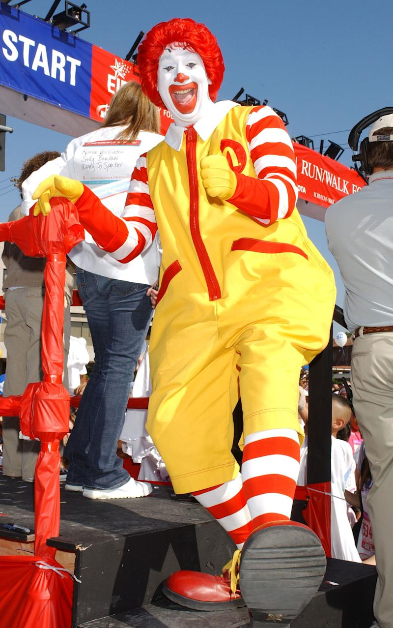 This McDonald's clown is a photo-op goldmine, whether he's hanging out on benches outside of the restaurant or attending Ronald McDonald House events.