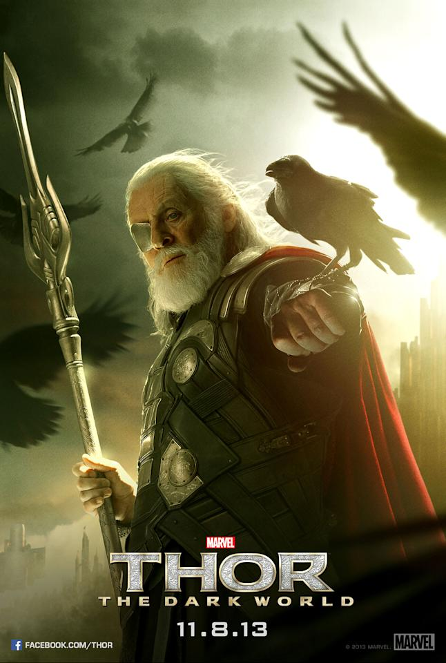 "Anthony Hopkins stars as Odin in Marvel Studios' ""Thor: The Dark World"" - 2013"