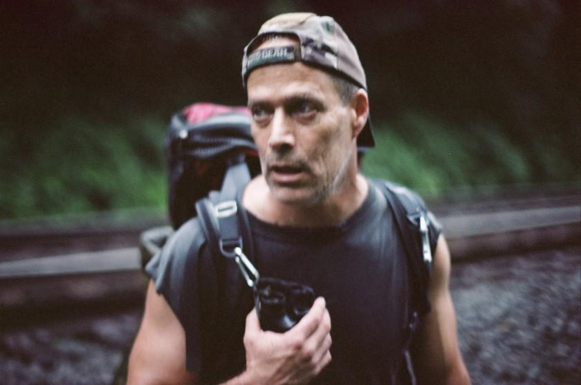 Sebastian Junger trying to figure out where to spend the night during a rainstorm west of Bolivar, PA, in 2013.