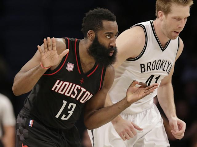 James Harden has been a scoring and playmaking machine since the season's opening tip. (AP)