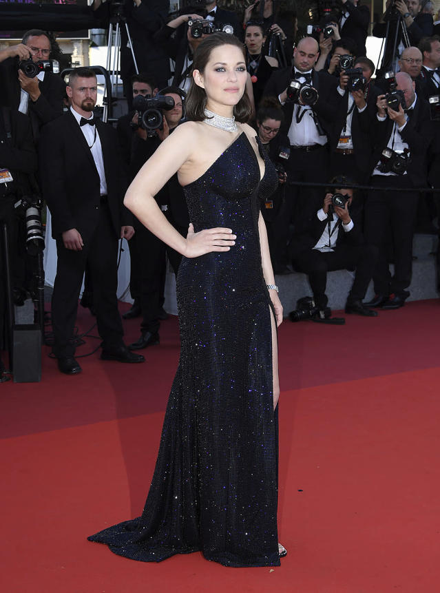 <p>Marion Cotillard arrives at the 70th Anniversary of the film festival on May 23, 2017. (Photo: Arthur Mola/Invision/AP) </p>