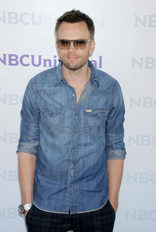 "Joel McHale (""<a href=""http://tv.yahoo.com/community/show/44719"">Community</a>"") arrives at NBC Universal's 2012 Summer Press Day at The Langham  Huntington Hotel and Spa on April 18, 2012 in Pasadena, California."
