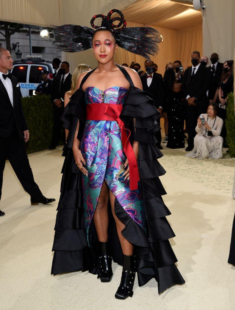 """Naomi Osaka attends The Metropolitan Museum of Art's Costume Institute benefit gala celebrating the opening of the """"In America: A Lexicon of Fashion"""" exhibition on Monday, Sept. 13, 2021, in New York. - Credit: AP"""