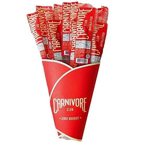 """<strong><h3>Exotic Jerky Bouquet</h3></strong><br>For your very own salt bae — this savory bouquet comes stuffed full of twenty long-stemmed jerky sticks made from an assortment of premium elk to buffalo and venison meat.<br><br><strong>Carnivore Club</strong> Exotic Jerky Bouquet, $, available at <a href=""""https://amzn.to/3iDHbRn"""" rel=""""nofollow noopener"""" target=""""_blank"""" data-ylk=""""slk:Amazon"""" class=""""link rapid-noclick-resp"""">Amazon</a>"""