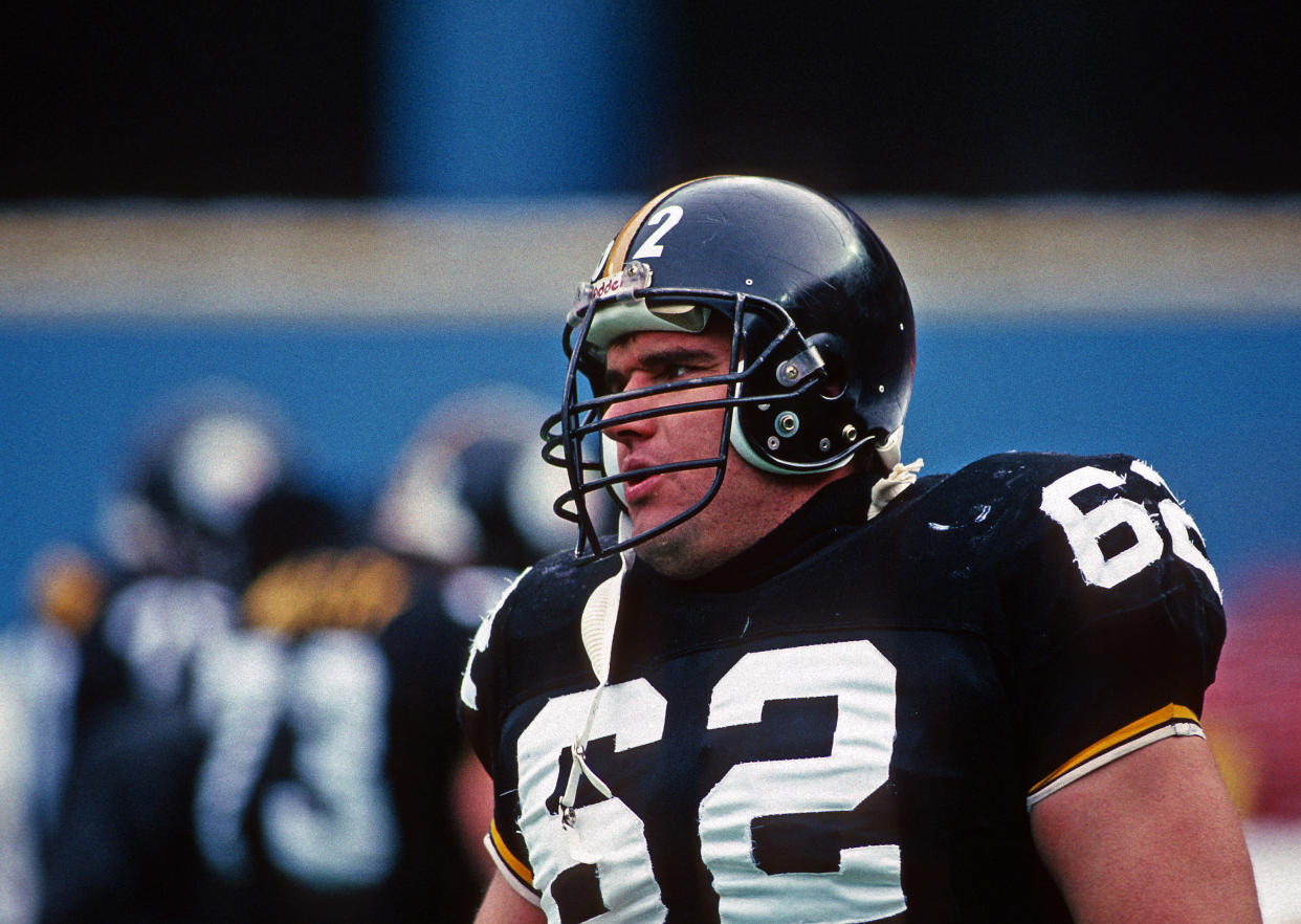 Tunch Ilkin with the Steelers.