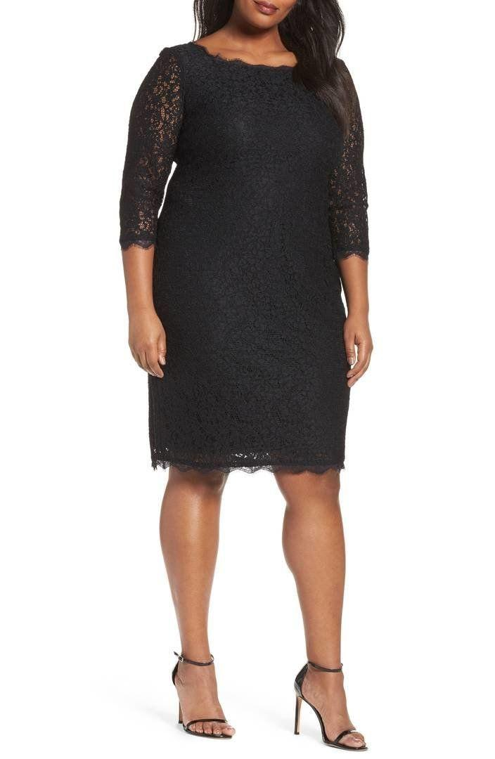 "From <a href=""https://shop.nordstrom.com/s/adrianna-papell-lace-overlay-sheath-dress-plus-size/3296668?origin=category-personalizedsort&fashioncolor=BLACK"" target=""_blank"">Nordstrom</a>. Comes up to a size 24W."