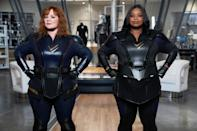 """<p>Melissa McCarthy and Octavia Spencer star as two childhood friends who discover a way to become superheroes. Together, they work together to stop the bad guys and save the world. Though the film received <a href=""""https://www.glamour.com/story/thunder-force-on-netflix-is-dividing-the-internet?mbid=synd_yahoo_rss"""" rel=""""nofollow noopener"""" target=""""_blank"""" data-ylk=""""slk:mostly negative reviews"""" class=""""link rapid-noclick-resp"""">mostly negative reviews</a> from critics, it reached high numbers on Netflix. Proof that sometimes people just want a zany comedy to end a hard week—nothing wrong with that!</p> <p><a href=""""https://cna.st/affiliate-link/2Z6F81fjBAMUbaw55t2E8q41eU5eDQYHEH5vMP7s8X5gXGxyxd3zMWPNSLVfSbD6S5rxYoM8tGAYsiVuAMA5eBMMWLUg?cid=60a80441953014aaf7aea0d2"""" rel=""""nofollow noopener"""" target=""""_blank"""" data-ylk=""""slk:Watch it on Netflix"""" class=""""link rapid-noclick-resp""""><em>Watch it on Netflix</em></a></p>"""