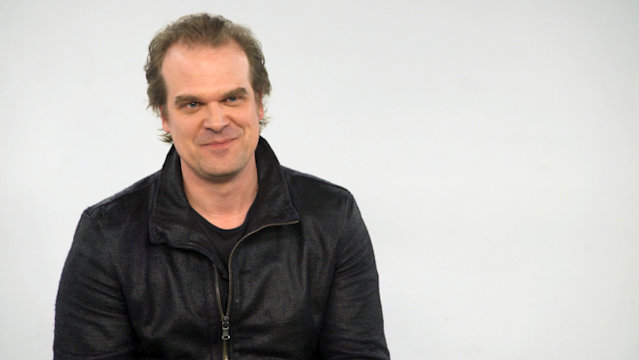 <em>Stranger Things</em> star David Harbour chatted with Yahoo Movies about taking on the role of Hellboy. (Photo: Yahoo)