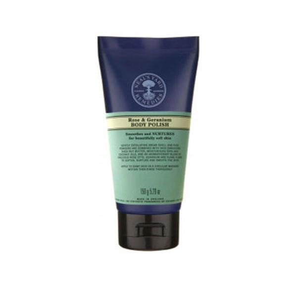 """<b>Top 10 best exfoliators:</b> <a target=""""_blank"""" href=""""http://www.nealsyardremedies.com/Rose-And-Geranium-Body-Polish"""">Neal's Yard Remedies Rose & Geranium Body Polish</a>, £17, will buff away any dry skin and leave you smelling like a bed of roses."""