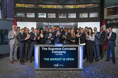 The Supreme Cannabis Company, Inc. Opens the Market (CNW Group/TMX Group Limited)