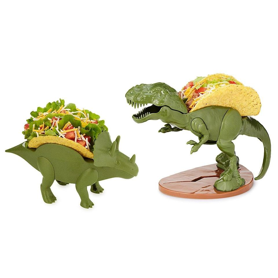 <p>Taco Tuesday just got that much better thanks to these <span>Dinosaur Taco Holders</span> ($15).</p>