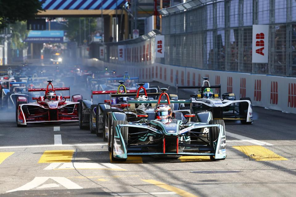 The Zurich E-Prix in 2018, the first race in Switzerland for 63 yearsJaguar Panasonic Racing/Getty