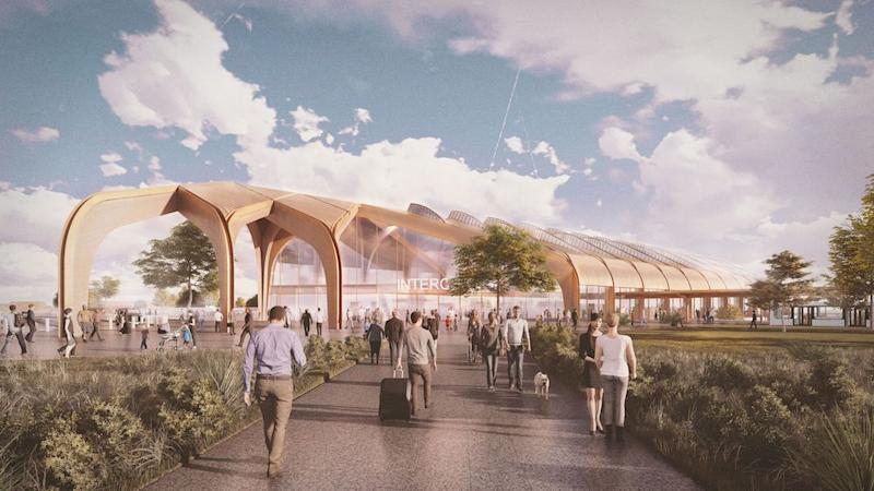 Expensive: Interchange station in Solihull is one of the sites of HS2, artist's impression (PA)
