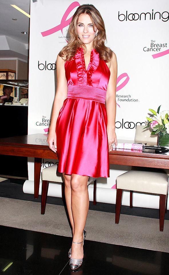 "Liz Hurley looks hotter than ever in hot pink. Dara Kushner/<a href=""http://www.infdaily.com"" target=""new"">INFDaily.com</a> - October 2, 2008"