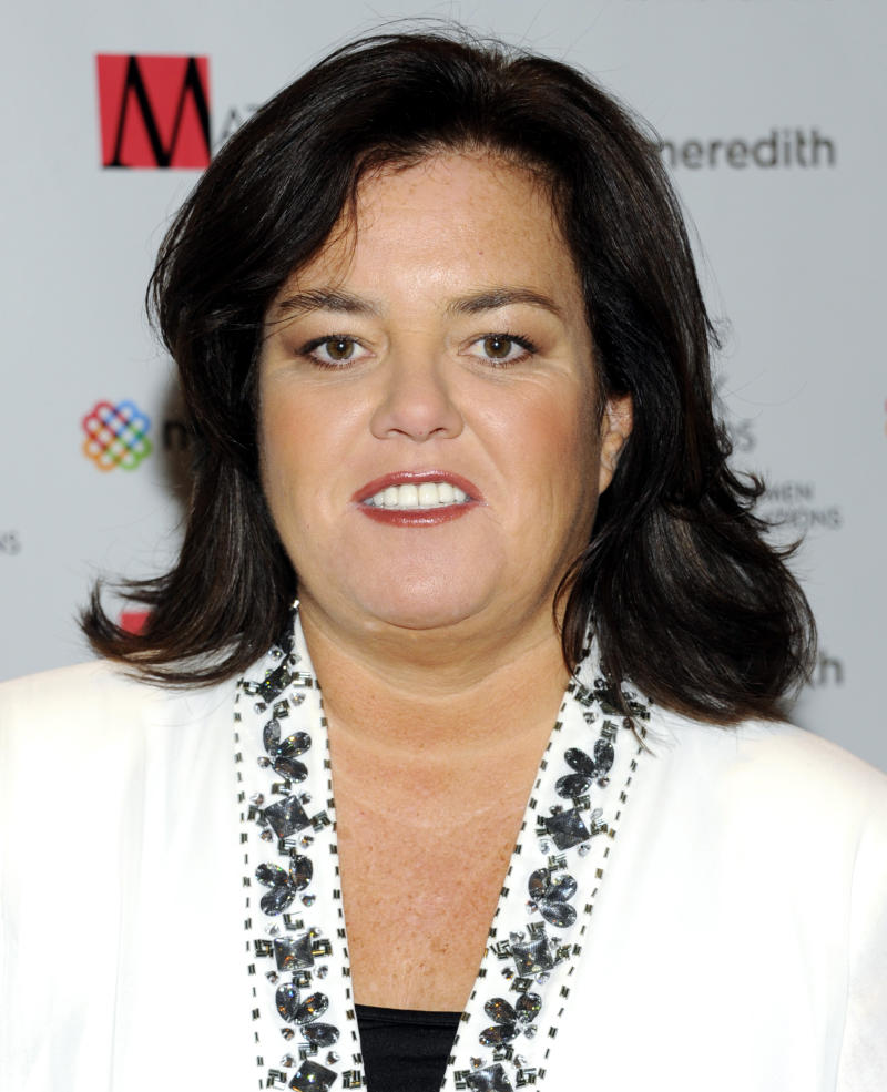 "FILE - In this April 11, 2011 file photo, television personality Rosie O'Donnell attends the New York Women in Communications' 2011 Matrix Awards in New York. O'Donnell said on her blog, Monday, Aug. 20, 2012, that she's ""lucky to be here"" after suffering a heart attack last week. (AP Photo/Evan Agostini, file)"