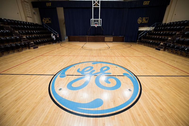 A basketball court sits unused in the Electric Works compound.