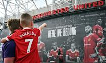 Manchester United fans will get to see Cristiano Ronaldo again in Saturday's clash with Newcastle (AFP/Paul ELLIS)