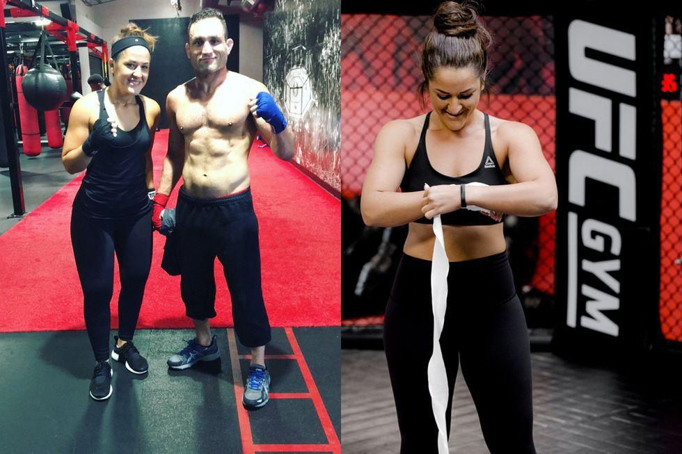 <p>I bounced around from gym to gym, trying to find a new home. At the time, I was working as a manager at a large store and decided I no longer wanted to be in retail. My friend who worked out with me told me that the UFC GYM in Mission Valley was hiring, so I decided to apply there. In February 2017, I was hired on as a membership specialist  -  and I used my breaks to work out.</p><p>People and coaches noticed I had a talent when it came to boxing and would ask me to help them. One month later, I was asked if I wanted to become a boxing coach there. Working at UFC and changing my diet helped me lose the last 16 pounds. After six months of working there, I finally reached my goal weight. </p>